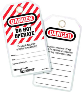 Danger Do not Operate Heavy Duty Locked Out Tag (Pack/12)