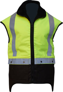 Oilskin Sleeveless Hivis Yellow Vest