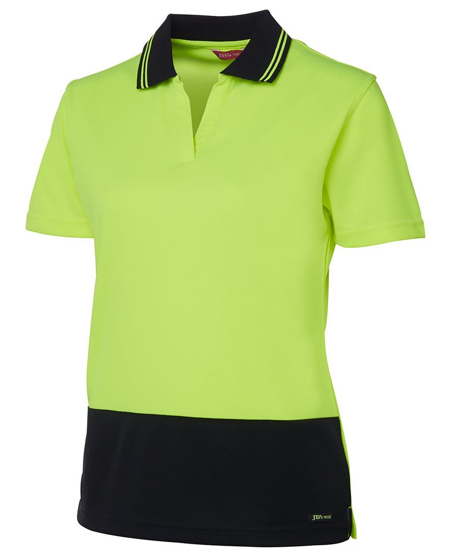 Ladies Short-sleeve Non Button Polo