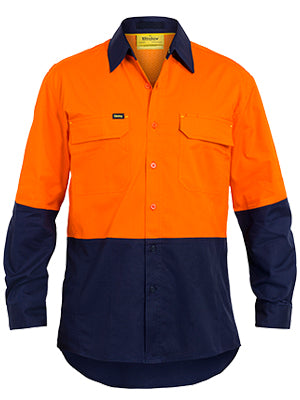 Bisley L/S Day/Only Hivis Airflow Ripstop Shirt