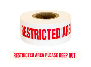 Barrier Warning Tape Restricted Area Please Keep Out