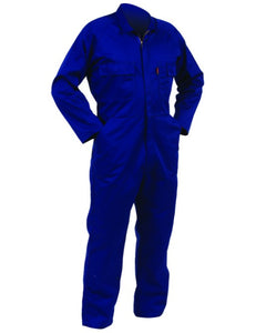 Polycotton Domed L/S Overalls Royal 9 End Of Line