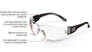 Magnum Safety Glasses - clear