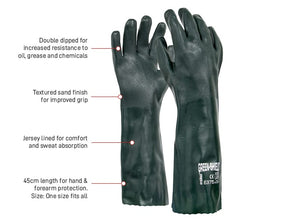 PVC Glove Green Double Dipped45cm (PVC45DD)