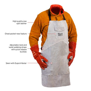 Fusion Leather Apron - cow split - 1m x 800mm XL