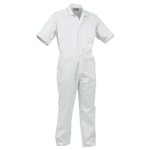 Food Grade Nylon Zip S/S Medium Weight Polycotton Overalls