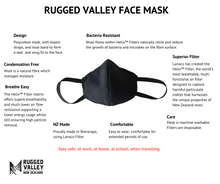 Load image into Gallery viewer, Washable Face Mask 5pack - x5 Face Masks + x5 Packs of Helix Filters