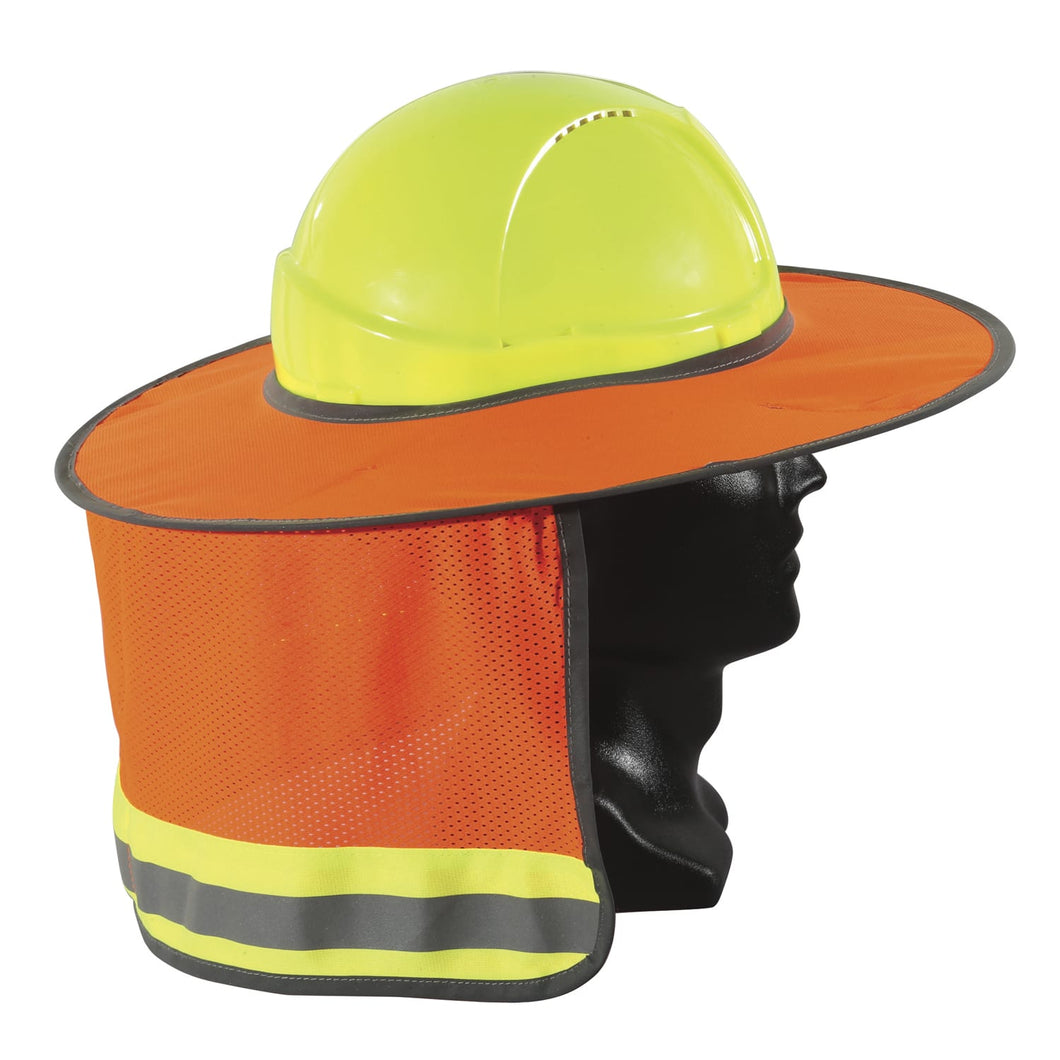 Esko Hardhat Full Sunbrim Fluro Orange