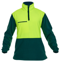 Load image into Gallery viewer, Caution Hi-Vis Day-Only Polar Fleece 1/2 Zip Tunic - 380gsm