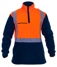 Load image into Gallery viewer, Caution Hi-Vis Day-Night Polar Fleece 1/2 Zip Tunic - 380gsm