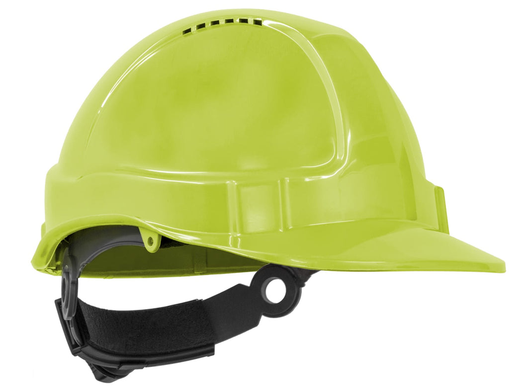 TuffNut Hard Hat Ratchet Harness - Neon Yellow