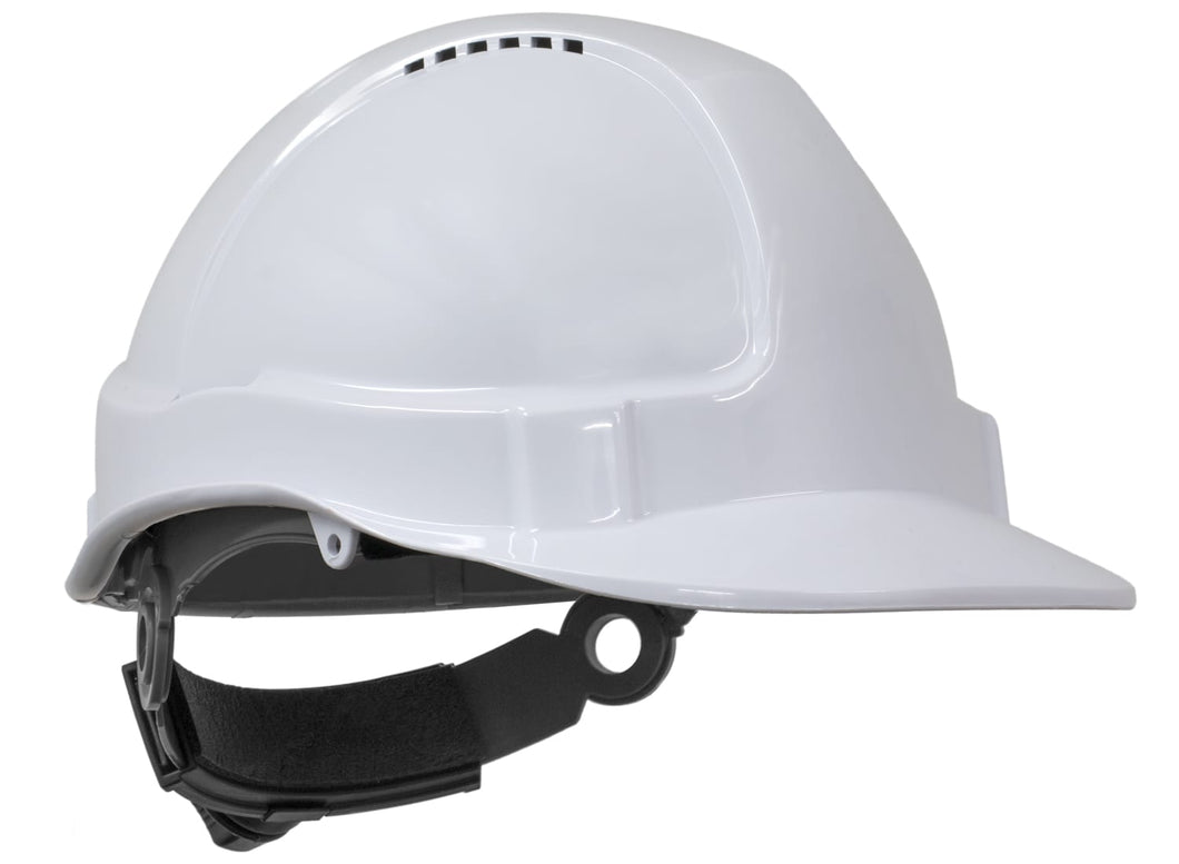 Tuff Nut Ratchet Harness Hard Hat - White