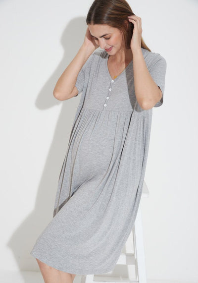 Bamboo Jersey Nursing Dress dress LIV Maternity