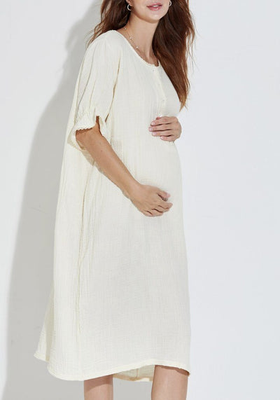 Cozy Gauze Dress dress LIV Maternity