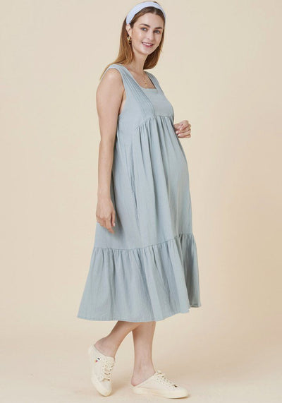 Crinkled Maxi Dress dress LIV Maternity