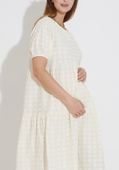 Eyelet Tiered Maxi Dress dress LIV Maternity