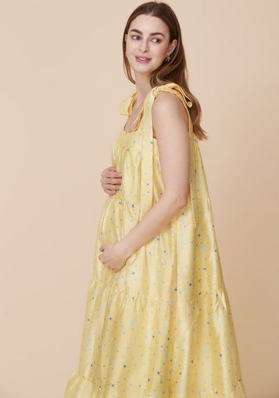 Star Printed Taffeta Gown dress LIV Maternity