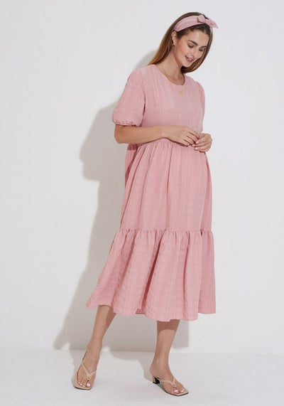Textured Gauze Dress dress LIV Maternity