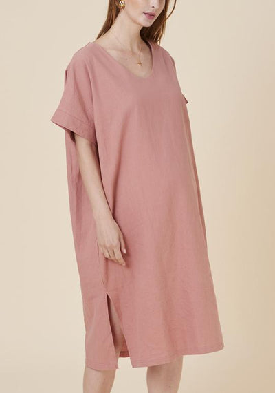 V-neck Linen Dress dress LIV Maternity