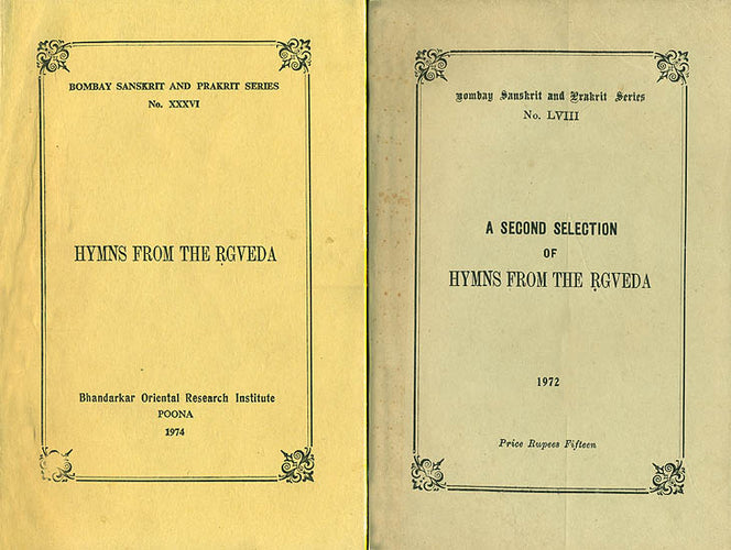 Hymns From The Rgveda - An Old and Rare Book (Set of 2 Volumes)