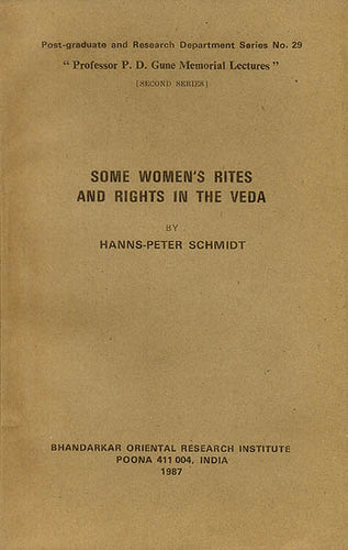 Some Women's Rites and Rights in The Veda (An Old and Rare Book)
