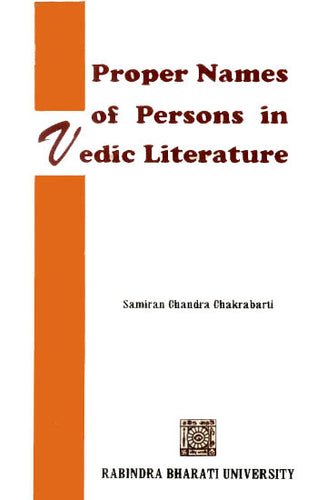 Proper Names of Persons in Vedic Literature