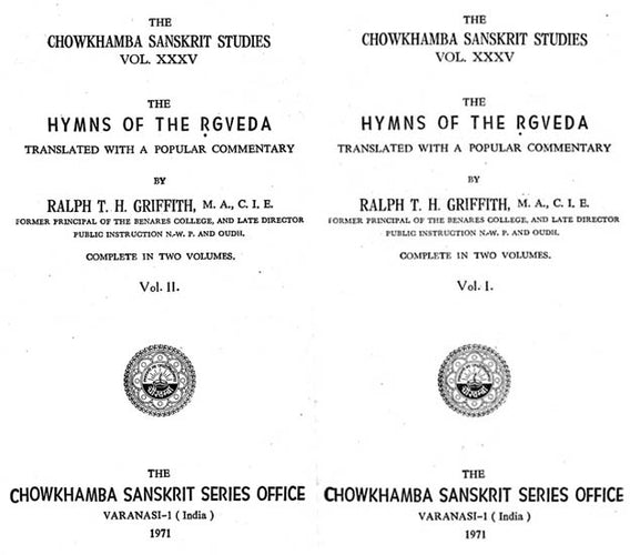 The Hymns of the Rgveda in a Set of 2 Volumes (An Old and Rare Book)