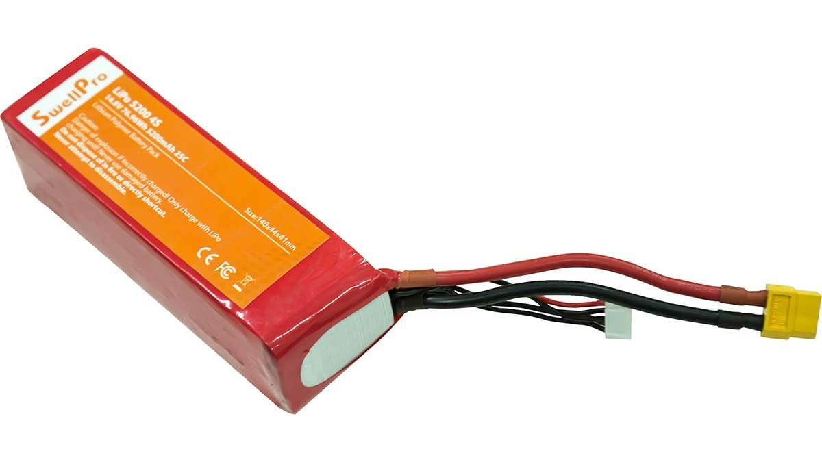 SPLASHDRONE 3 5200MAH LIPO BATTERY (old type) - DronetechNZ