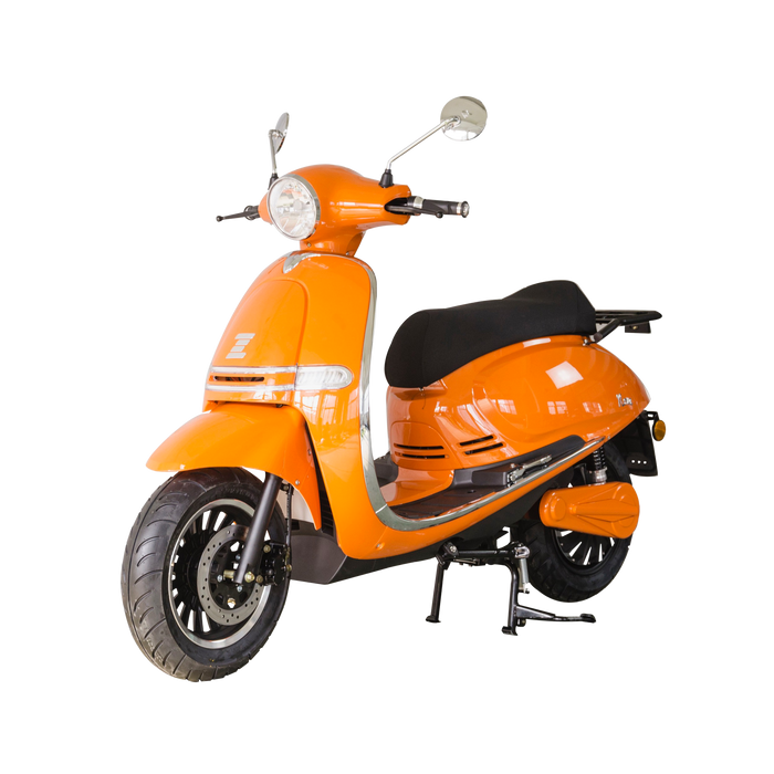Zoopa Nova Long Range Tangerine Electric Moped - 80km Range