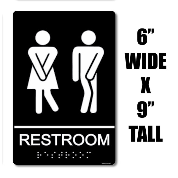 "ADA Compliant "" Gotta Go"" - Comical Themed Unisex Restroom / Bathroom Sign"