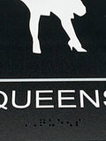 "ADA Compliant ""Elvis & Marilyn"" Kings & Queens Themed Restroom / Bathroom Signs"