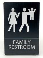 "ADA Compliant ""Smelly Baby"" - Comical Unisex Family Restroom / Bathroom Sign"