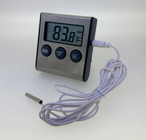 Digital Fridge / Freezer Thermometer w/ Alarm