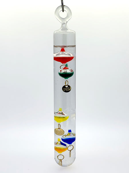 "7"" Tall Hanging Galileo Thermometer Ornament"