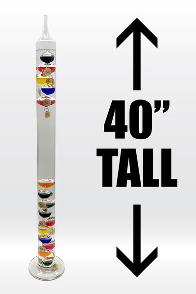 "40"" Tall Galileo Thermometer"