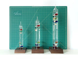 "13"" Tall Galileo Thermometer With Wooden Base"