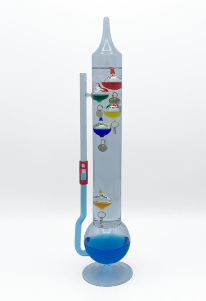 "13"" Tall Galileo Thermometer / Goethe Ball Barometer Combo Unit"