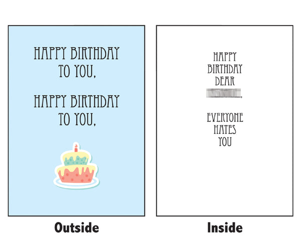 Have An Unhappy Birthday: Secret Scrooge Mean Greeting Card