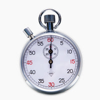 "30 Minute ""Diamond"" Steel Mechanical Stopwatch With Reset Button"