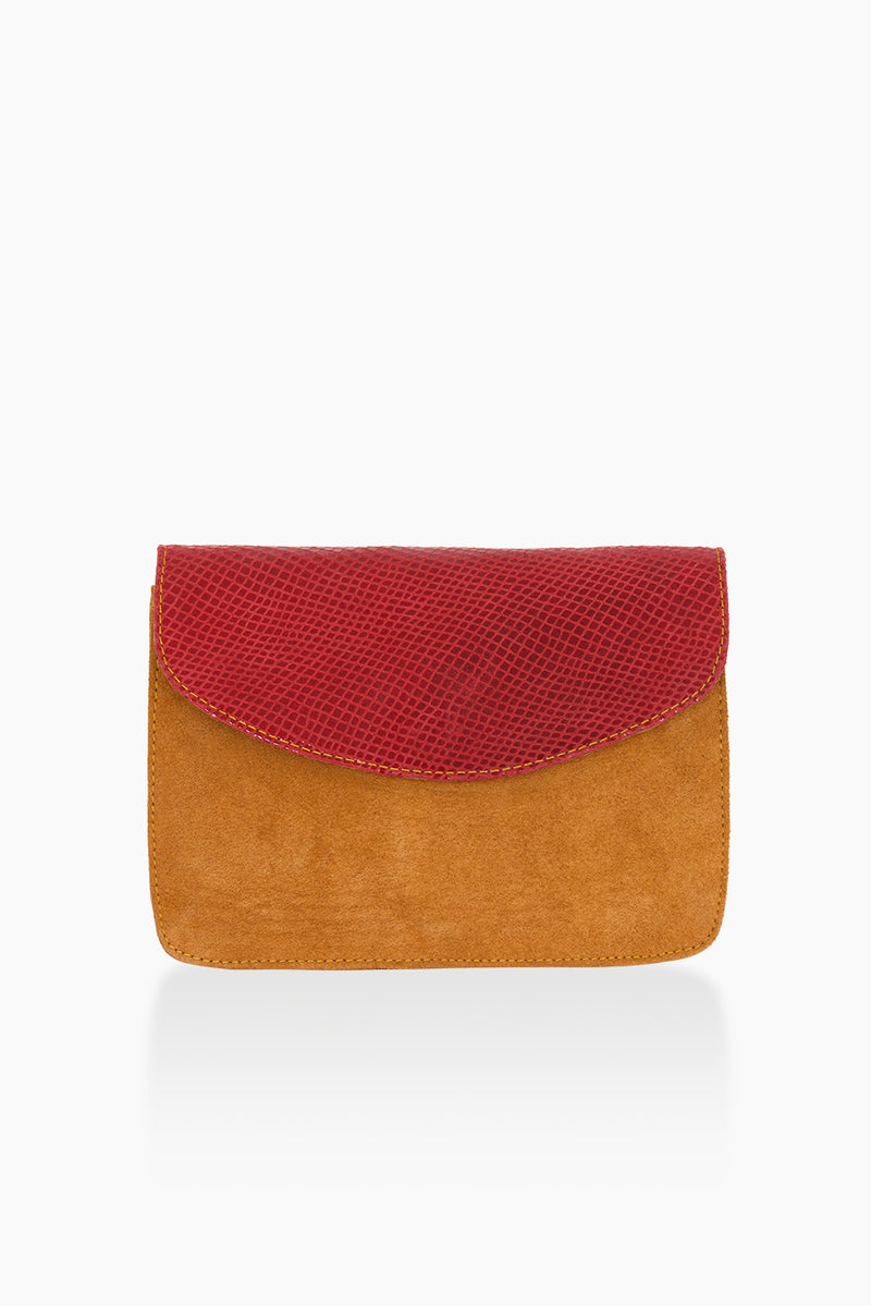 DétaiL shoulder bag 10203405208- camel/red
