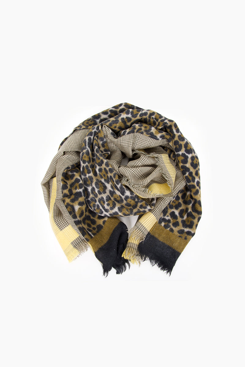 DétaiL scarf 10203406724 - Yellow