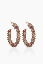 DétaiL earring 10203405628 - Silver/Smoky Quartz/Garnet