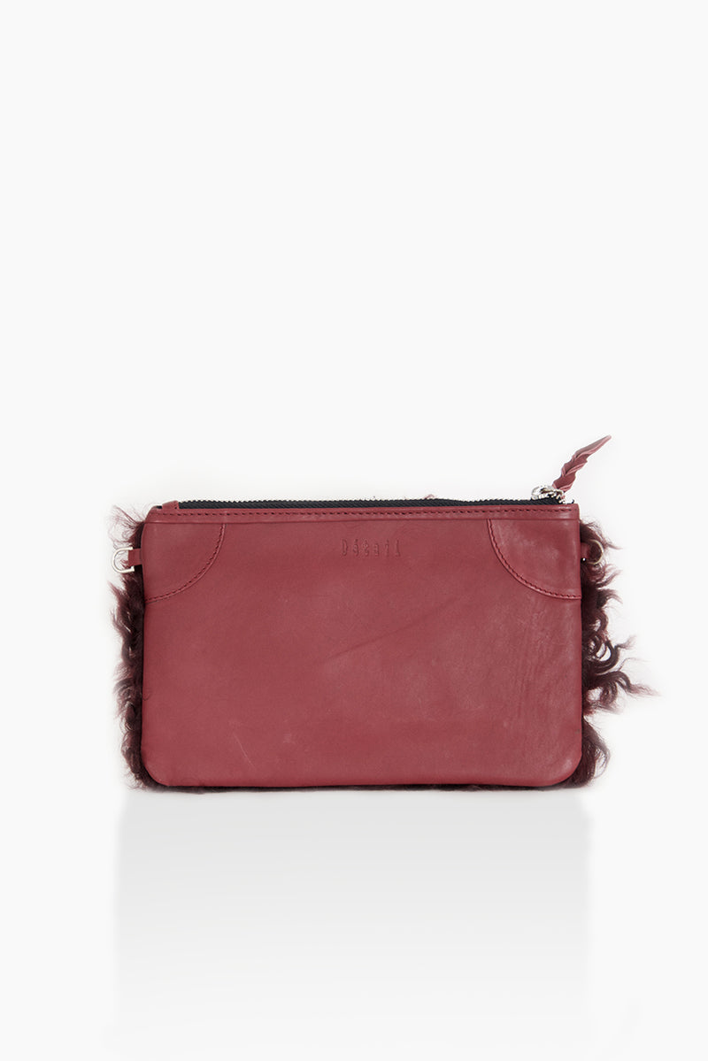 DétaiL clutch 10203405151 - burgundy/fur