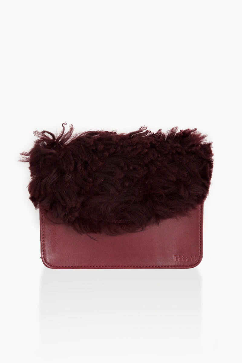 DétaiL shoulder bag 10203405525 - wine red/fur
