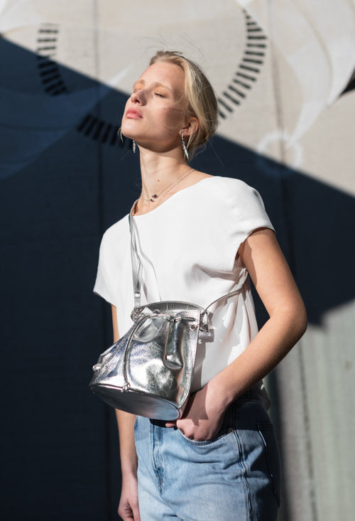 A DétaiL bucket bag 10203408632 - Silver/Metallic