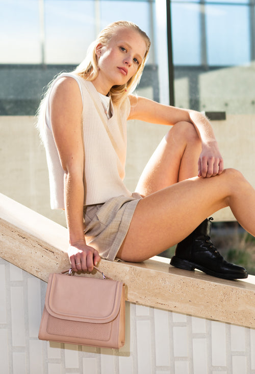 A DétaiL shoulder bag 10203408536 - Blush/Salmon