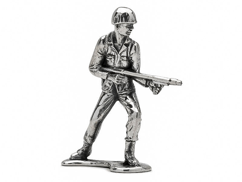 Classic Flamethrower Silver Army Man