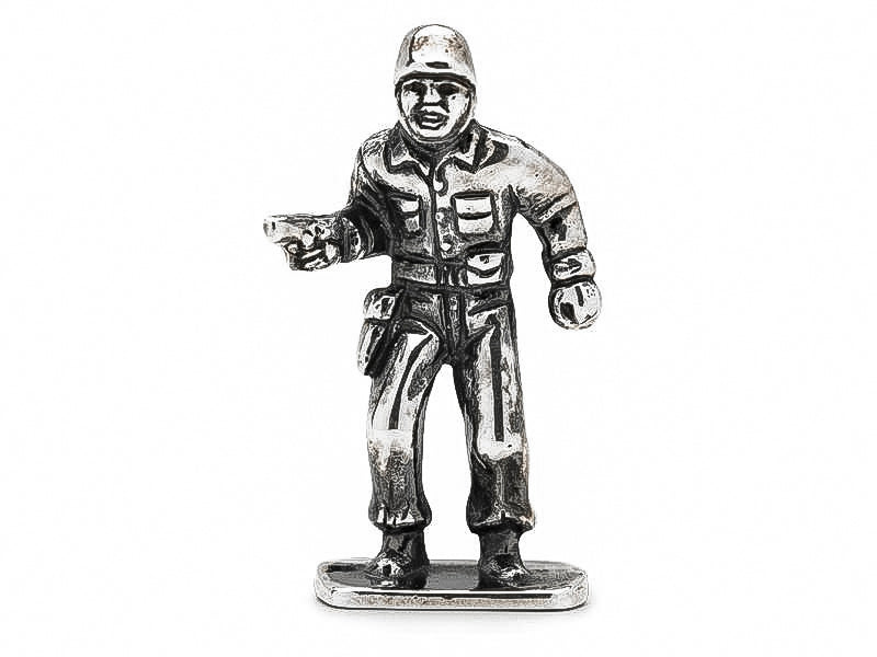 Doughboy 1911 Silver Army Man