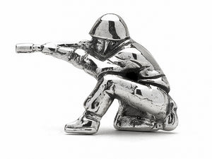 Doughboy Kneeling M1 Silver Army Man