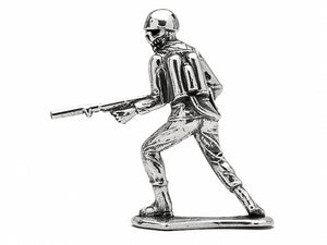 Skull Face Flamethrower Silver Army Man
